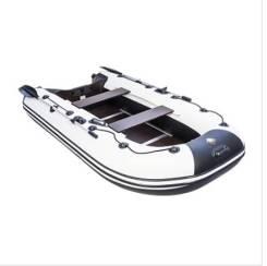 """Лодка Ривьера Компакт 2900 СК """"Касатка"""" светло-серый/черный"""