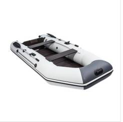 Лодка аква 3200 слань-книжка киль cветло-серый / графит