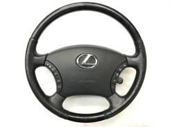 Оригинальный обод руля с косточкой под чёрное дерево Lexus
