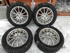 Отличная зима Dunlop 185/60 R15 на литье Bridgestone 4/100