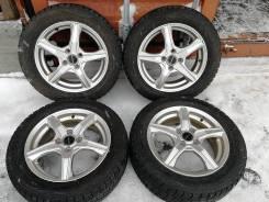 Отличная зима Dunlop 185/60 R15 на литье Bridgestone Balminum 4/100