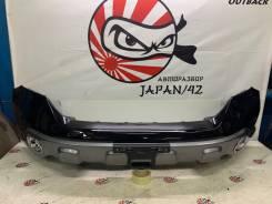 Бампер передний + накладки ПТФ (NH731P - черный) Honda Cr-V RE4 #2