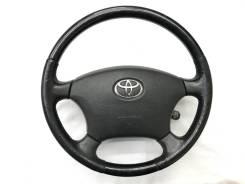 Оригинальный обод руля с косточкой под чёрное дерево Toyota
