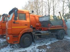 Мусоровоз КО-440А1 на шасси Камаз-43253 б/у (2019 г. 82 326 км.) Бункеровоз