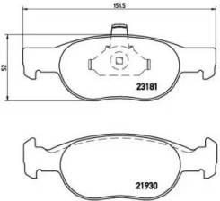 Колодки дисковые передние!   Fiat Punto 1.2/1.4 99>, Lancia Y 1.1-1.4 97-03 P23125_ [P23125]