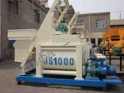 Принудительный двухвальный бетоносмеситель JS1500