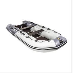 Лодка Ривьера Компакт 3600 СК «Комби» светло-серый/графит