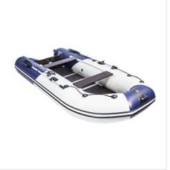 """Лодка Ривьера Компакт 3400 СК """"Комби"""" светло-серый/синий"""
