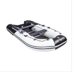 """Лодка ривьера максима 3400 ск """"комби"""" светло-серый/черный"""