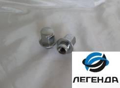 Глухая шайбовая Колёсная гайка хром М14х1.5 ( 46 мм ) 22 ключ