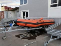 Надувная моторная лодка из ПВХ НПО наши лодки Витязь 430