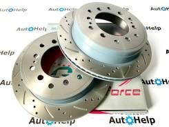 Диски тормозные задние перфорированные G-brake GFR-02858L | GFR-02858R