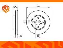 Диск тормозной Bosch 0986479085 передний