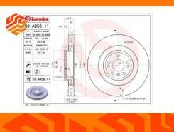 Диск тормозной Brembo 09A95811 передний