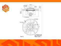 Диск тормозной Brembo 09R10511 передний