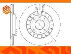 Диск тормозной вентилируемый G-Brake GR20044