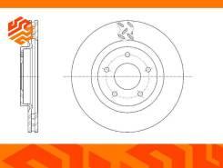 Диск тормозной вентилируемый G-Brake GR20804 передний