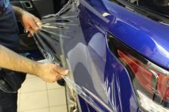 Бронировка кузова авто защитной пленкой. Бронирование лобового стекла