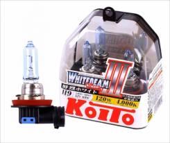 Лампа галогенная Koito H9 Whitebeam 4000K 12V 65W, 2 шт, P0759W