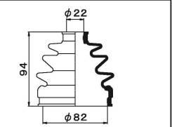 Пыльник ШРУСа наружный Honda CR-V RD1 / RD2