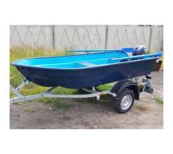 Лодка стеклопластиковая Neman-340 ( тримаран )