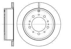 Диск тормозной зад Toyota Land Cruiser 200 07-, Lexus LX570 07-