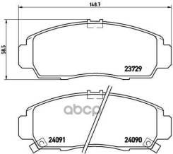 Колодки Тормозные Дисковые Xtra   Перед   Acura Rl 10/95-09/04 / Acura Tl (Uc_) 10/03-11/12 / Acura Tl 10/98-09/03 / Acura Tsx (Cl_) 10/03-12/08 / Acura Tsx (Cu_) 01/09-> / Byd F6 09/07-12/14 / Byd G6 Saloon 09/11-> / Gmc Yukon (Gmt900) 09/06-07/14...