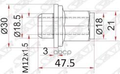 Гайка Колесная Хром Закрытая Toyota/Lexus Sat арт. ST-90942-01058