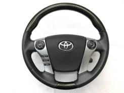 Анатомический обод руля REAL с косточкой карбон для Toyota SAI