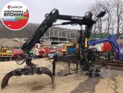 Видео работы! Крановая установка Hiab 098D -2 фискарь лесозахват N 455