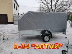 Прицеп для снегохода и грузов Б-34ОЦ Алтай горячая оцинковка борт40см