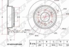 Диск тормозной зад Honda Odyssey RA/RB 99-08/ Elysion 04-13 SAT [ST42510SP0000]