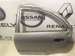 Дверь Nissan Almera Classic B10 2006 Серебро Лево [8210195F0C], задняя