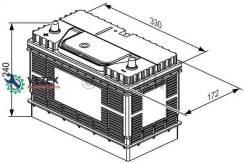 Аккумулятор! T3 105Ah 800А + слева 330x172x240 0 092 T30 500_ Bosch 0092T30500