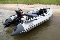 Надувная лодка REKA R355 премиум (привал + лыжи + дублирование дна)
