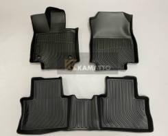 Модельные 3D авто коврики Kamatto для Toyota Rav-4 2019г+ Левый руль