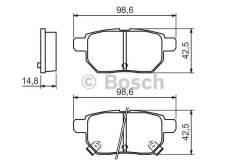Колодки тормозные дисковые Bosch 0986494328