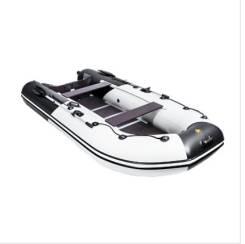"""Лодка Ривьера Компакт 3600 СК """"Комби"""" светло-серый/черный"""