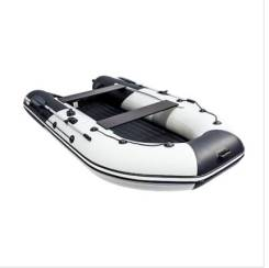 """Лодка Ривьера 3600 килевое надувное дно """"комби"""" светло-серый/черный"""