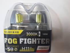 Лампа галогеновая H11 12V-55W 3000K Комплект 2ШТ. Замена!