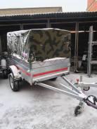 Прицеп от Кургана 2 на 125 см с тентом , оцинкованный