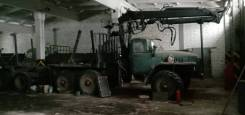 Урал 4320, лесовоз с КМУ, 1991