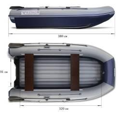 Надувная лодка Флагман DK 380 двухкорпусная