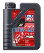 Масло Моторное! Синт., Для Мотоц Api-Sn, Ma-2 Liqui moly Liquimoly 10w40 Motorbike 4t Synth Street Race (1l)_ Liqui moly 20753