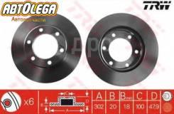 Диск тормозной TRW Toyota LC Prado HZJ/KZJ/PZJ7# 93-99, HiLux LN100/106