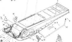 Раму (тонель) с документами BRP Lynx Xtrim Commander 600 Sdi, 09г