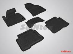 Резиновые коврики с высоким бортом для Hyundai Santa Fe 2012-2018