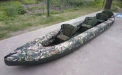 Байдарка надувная двухслойная Тайга 600, четырехместная