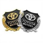Наклейка Toyota, металл. золото. В наличии!