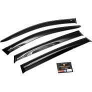 Дефлектор Дефлекторы окон Chery Bonus 3 Sd 2014/A19 Sd 2014EuroStandard черный Cobra Tuning